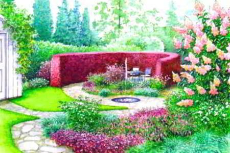 Уютный сад для всей семьи - два варианта дизайна