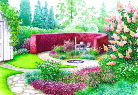 Уютный сад для всей семьи — два варианта дизайна