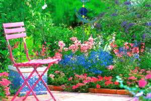 Цветник на террасе